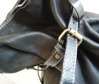 BUFALO BP03 BLACK кожаный рюкзак-мешок