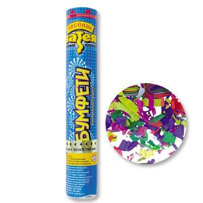 Пневмохлопушка с кнопкой 30см конфетти бум