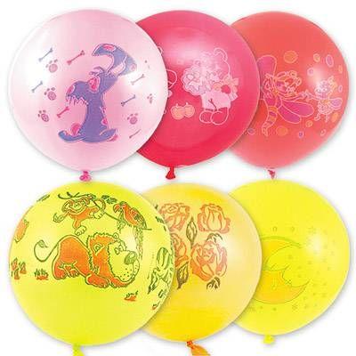 """Воздушный шар 18"""" с рисунком ассорти 5 шт."""