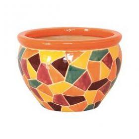 Горшок керамический Мозаика