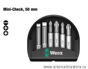 Набор бит Mini-Check, 6 насадок 50 мм WERA WE-056474
