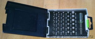 Кассета для бит, комплект FESTOOL Torx из 30 шт. с битодержателем SYS CASE SDB SET TX 31X