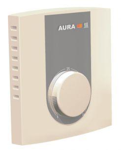 Терморегулятор AURA VTC 235 (кремовый) регулятор температуры для теплого пола электронный