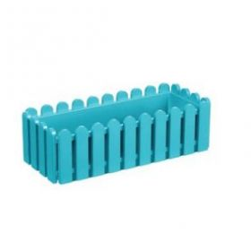 Ящик балконный Emsa Landhaus пластиковый голубой