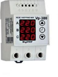 Реле напряжения  V-protector Vp-380V DIN (3 фазы,  фазное)