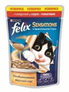 Felix Sensations Говядина с томатами в соусе (85 г)