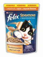 Felix Sensations Индейка со вкусом бекона в соусе (85 г)