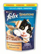 Felix Sensations Треска с томатами в соусе (85 г)