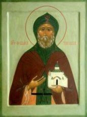 Феодосий Тотемский (рукописная икона)