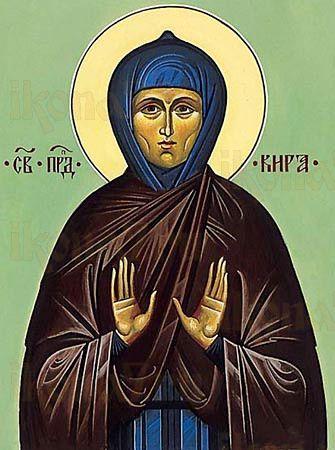 Кира Берийская (рукописная икона)