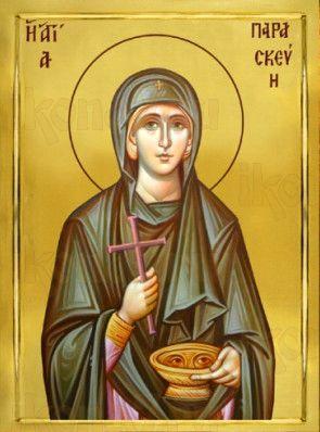 Параскева Римская (рукописная икона)