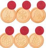 Печать для печенья DELICIA, 6 рождественских мотивов 630114