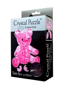 3D головоломка Мишка (розовый)