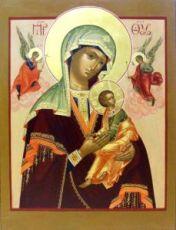 Страстная икона Божией Матери (рукописная)