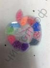 Набор для плетения Rainbow Loom Bands Яблоко малое 1000шт резинок , крючок, клипсы ,станочек для плетения  {2/4}