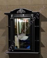 """Зеркальный шкаф для ванной комнаты """"Руссильон PROVENCE-75 черное дерево"""" (правое открывание)"""