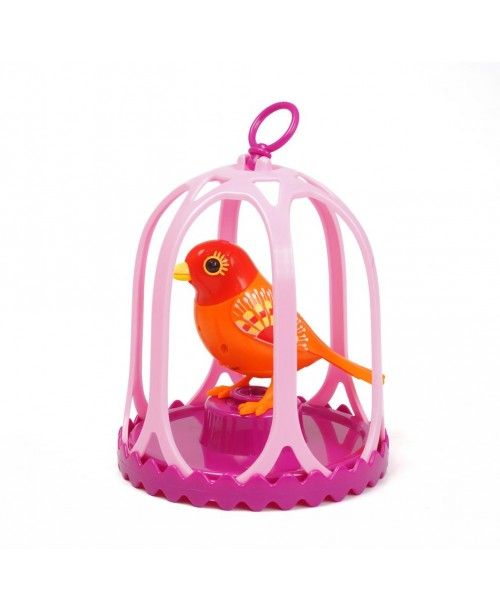 Поющая птичка DigiBirds с клеткой и кольцом