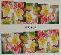 Водная наклейка для дизайна ногтей С 257
