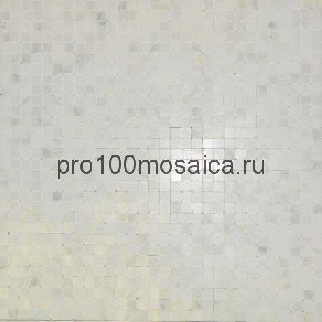 BIANCO CHINANA POL 10x10. Мозаика серия STONE,  размер, мм: 305*305 (ORRO Mosaic)