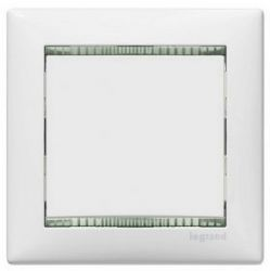 Рамка Legrand Valena 2 поста вертикальная Белый/Кристалл  (арт.774466)
