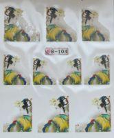 Водная наклейка для дизайна ногтей B 104