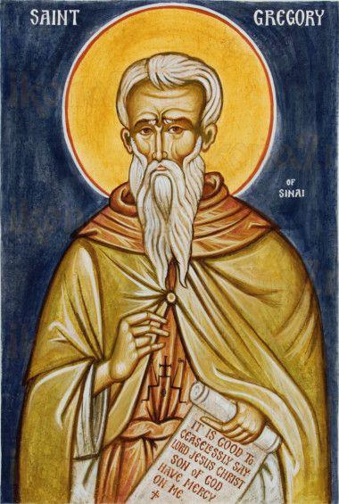 Григорий Синаит (рукописная икона)