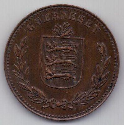 8 дублей 1920 г. AUNC. Гернси