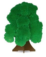 """Растущий кристалл """"Дерево зеленое"""""""