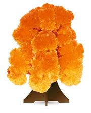 """Растущий кристалл """"Дерево оранжевое"""""""