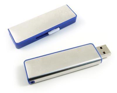 8GB USB-флэш накопитель Apexto U108B металлический слайдер, синяя вставка