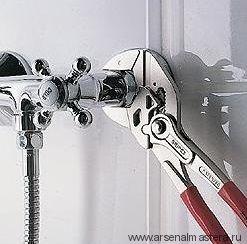 Клещи переставные-гаечный ключ KNIPEX 86 03 250  250 мм однокомпонентные ручки 52 мм / 2 дюйма KN-8603250