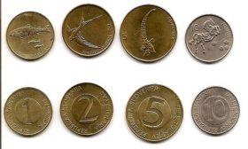 Фауна Набор монет Словения 1995-2001 гг. (4 монеты)