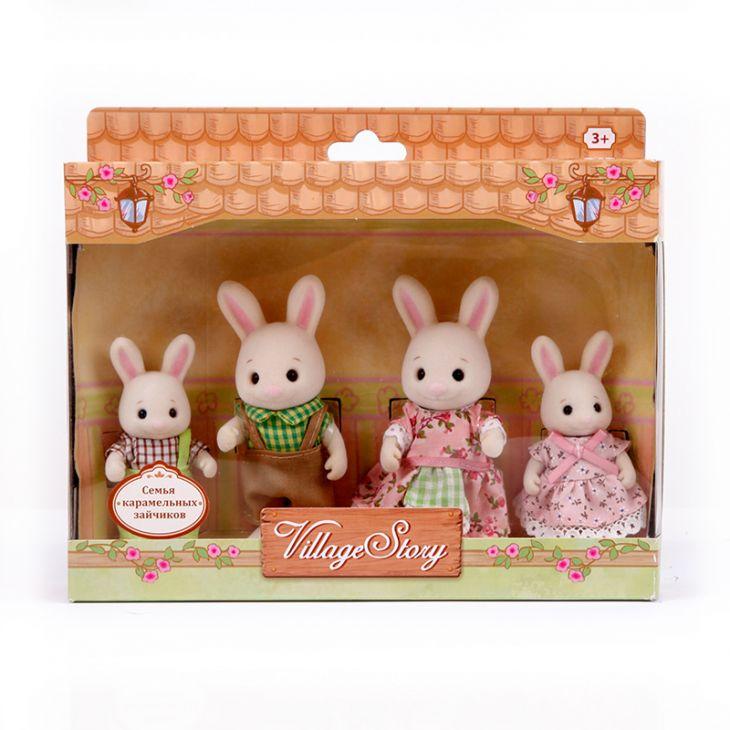 Семья карамельных кроликов (4 шт) Village Story