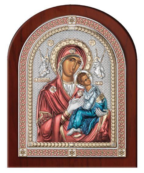 Серебряная икона Божья Матерь Амолинта (Благая) (Италия, эксклюзивная рамка)