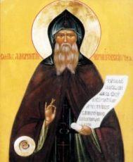 Лаврентий Черниговский (рукописная икона)