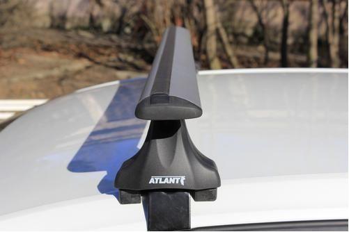 Багажник на крышу Nissan Teana, Атлант, с крыловидными аэродугами