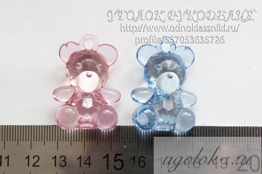 Мишка акриловый большие
