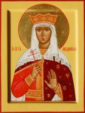 Людмила Чешская (рукописная икона)