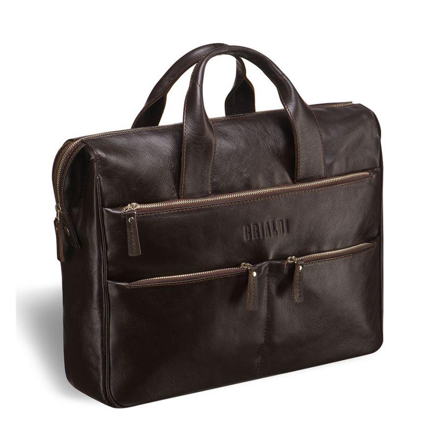 Вместительная деловая сумка BRIALDI Manchester (Манчестер) brown