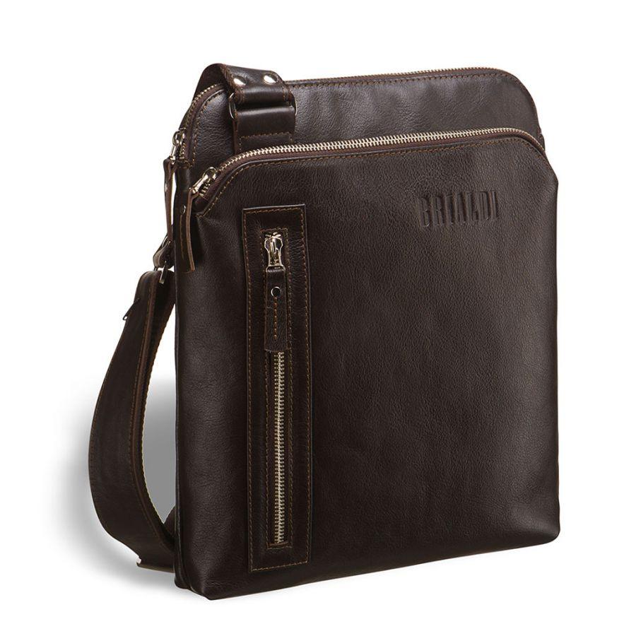 Кожаная сумка через плечо BRIALDI Providence (Провиденс) brown