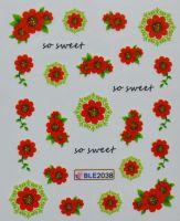 Водная наклейка для дизайна ногтей BLE 2038
