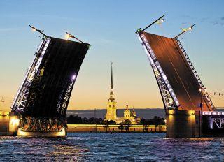 Почтовая открытка Белые ночи в Санкт-Петербурге