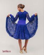 платье для танцев синего цвета