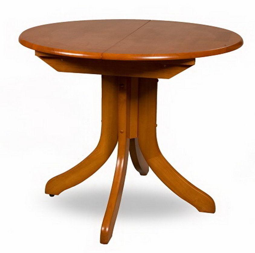 Стол круглый деревянный раскладной 3665
