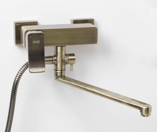 Wasserkraft Exter 1602L Смеситель для ванны с длинным поворотным изливом