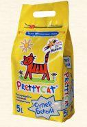 """Pretty Cat """"Супер Белый"""" Комкующийся наполнитель с ароматом ванили (5 л)"""