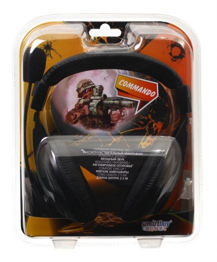 Мониторные наушники с микрофоном SmartBuy COMMANDO (SBH-7000)