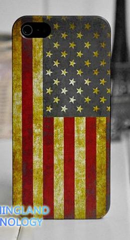 Чехол флаг Америки/США для iPhone 5/5s
