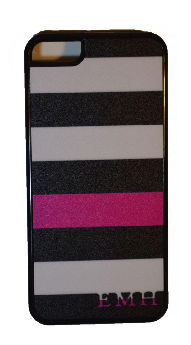 МАТОВЫЙ ЧЕХОЛ НА IPHONE 5/5S (pink-white)