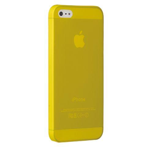 Ультра тонкий чехол 0.3мм для iphone 5/5s желтый
